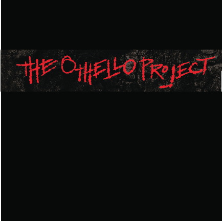 Red text: The Othello Project on a Black Bos