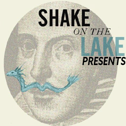 Shakespeare's face with a serpent mustache